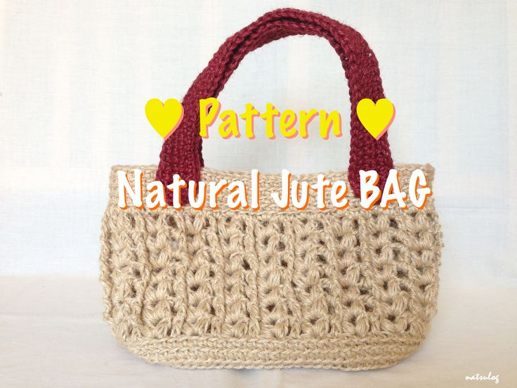 Step-by-step Crochet Pattern: A bag. Simple but cute and strong, made with jute strings.