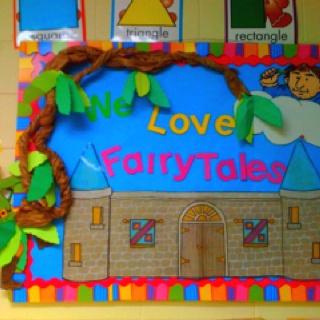 We love fairytales! | Children's books | Classroom bulletin boards, Classroom themes, Castle