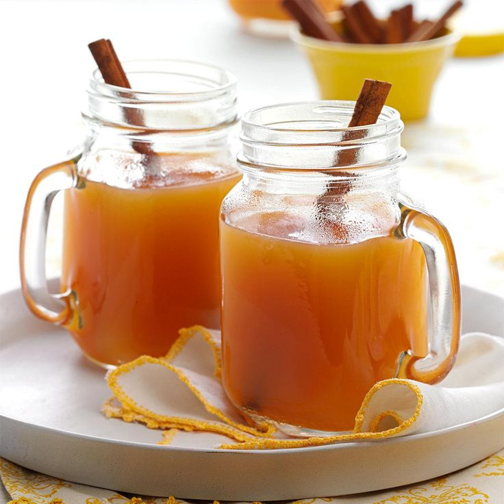 Hot Spiced Cider Recipe -Next time you're entertaining, stir up a batch of this nicely spiced apple cider. The wonderful aroma will make your guests feel welcome on a chilly day. —Kim Wallace, Dennison, Ohio
