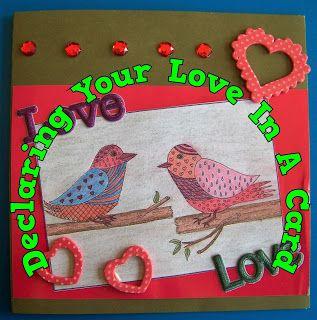 A Pretty Talent Blog: Cardmaking: Colour My Love Part 2