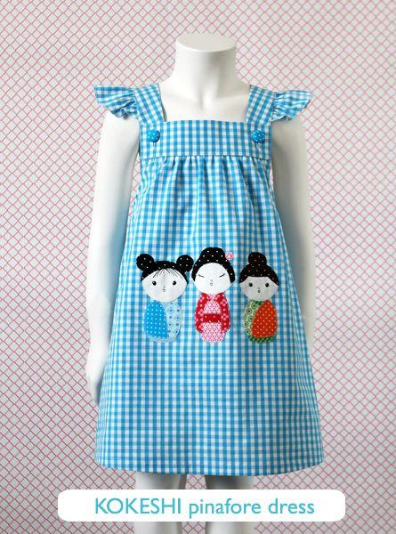 kokeshi pinafore dress  ottobre free pattern