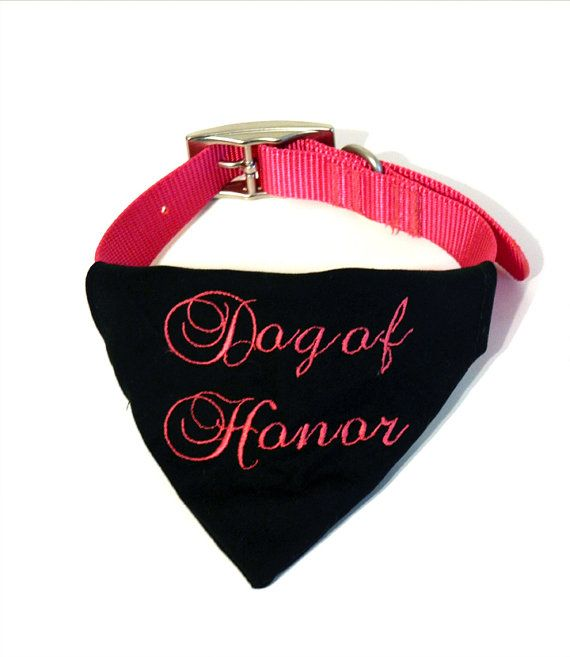 Dog of honor wedding bandana