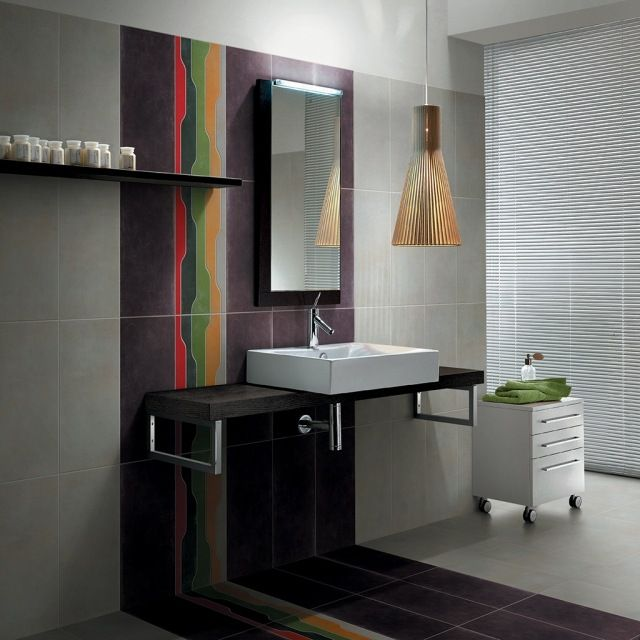 Les 25 meilleures id es concernant salles de bains gris for Changer carrelage salle de bain