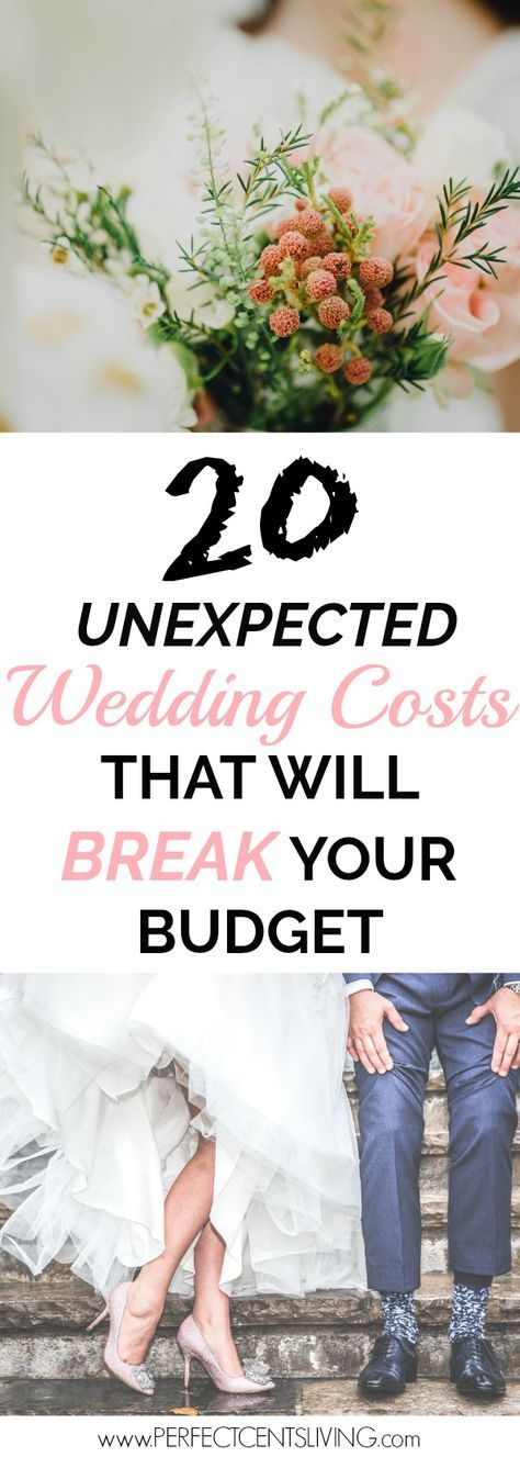 Plan ahead of time for these unexpected wedding costs to stay on budget