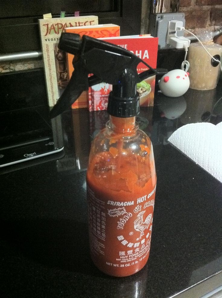 Sprayacha, A Sriracha Hot Sauce Spray Bottle... my weapon of choice.
