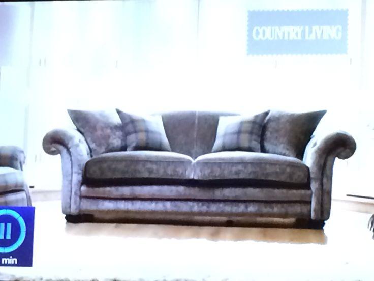 DFS Sofa Country Living Range Grey Sheen
