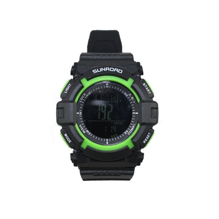 Docooler Waterproof Altimeter Compass Stopwatch FR822B 3ATM Outdoor Sports Multifunction Watch. Time functions: hour, minute, second, year (2000-2099), month, date, weekday, 12H/24H. Pedometer, step counter, calorie, distance record. Alarm clock (2 sets alarm clock, hourly alarm). Countdown timer (99:59:59~0). Stopwatch (0~99:59:59), 11 sets of data. Incorporates digital compass, altimeter, barometer, thermometer, air pressure trend and altitude trend. 24 hours air pressure trend chart…