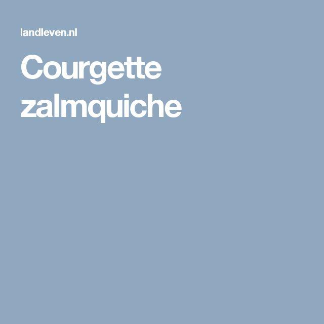Courgette zalmquiche