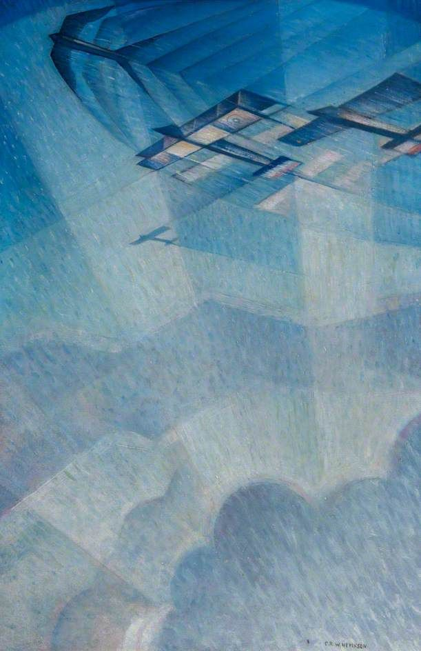 Pursuing a Taube by Christopher Nevinson, 1915.