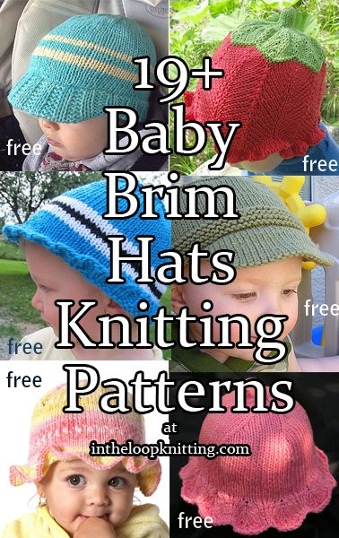 Knitting Patterns for Baby Hats With Brims