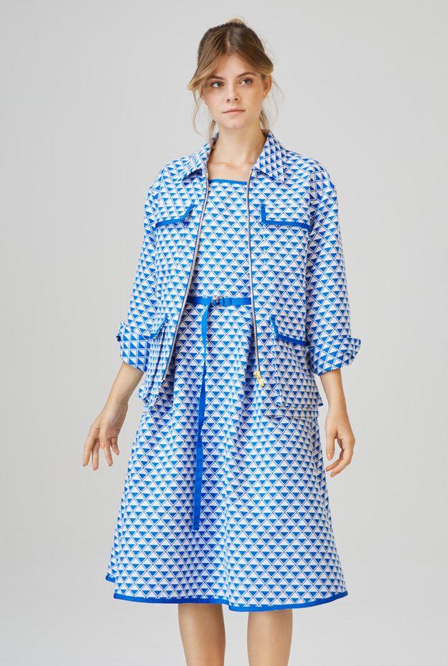 FONYOD - zip front jacket  AKALI - midi dress