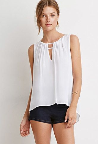 Top Escote Cut-Out   Forever 21 Mexico