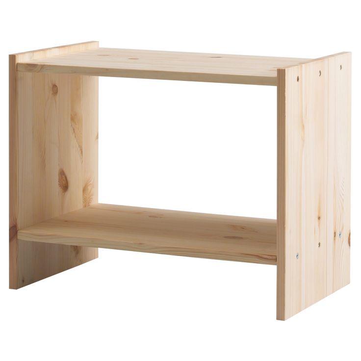 IKEA - RAST, Chevet, , Bois massif, matériau naturel et résistant.Huiler, cirer, vernir ou teindre afin d'obtenir une surface plus résistante et plus facile d'entretien.