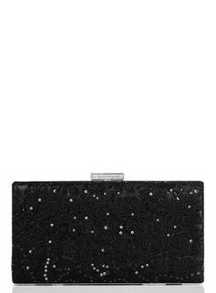 Lace Sequined Structured Clutch from Dorothy Perkins  £19,00