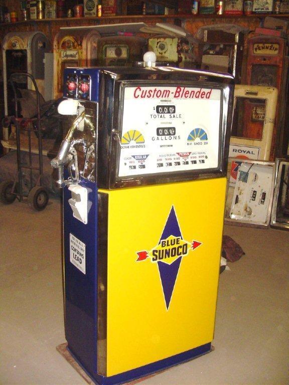 Find Gas Stations >> Sunoco Gas Pump I restored .   Vintage gas pumps, Old gas pumps, Gas pumps