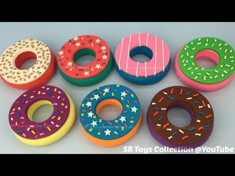 Play Doh Doughnuts with Peppa Pig and Ice Cream Molds Fun Creative for Kids - YouTube