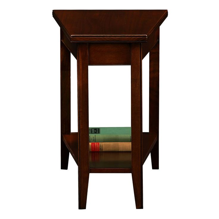Leick Furniture Chocolate Cherry Finish Wedge End Table, Multicolor