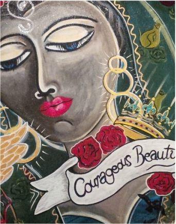 """Courageous Beauty"" Painted using Intentional Creativity Method - ART of Sisterhood"