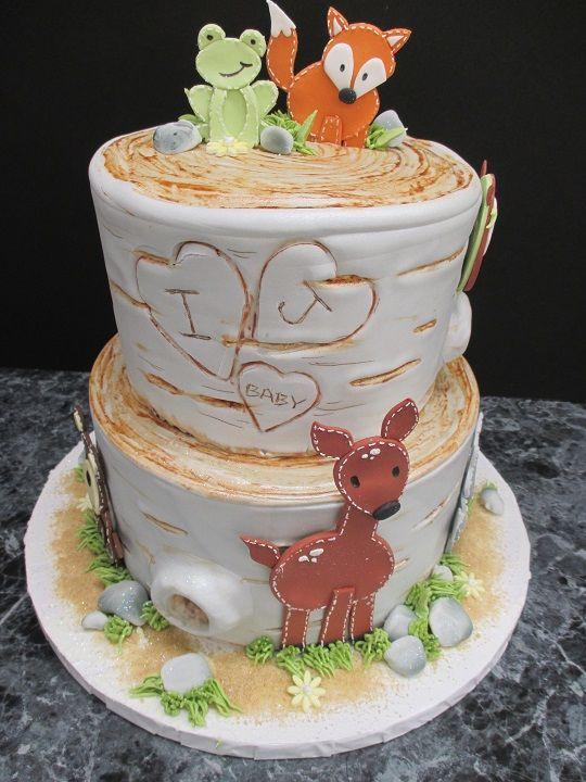 Forest Animal Baby Cake #643 | Oregon Dairy Supermarket and Bakery