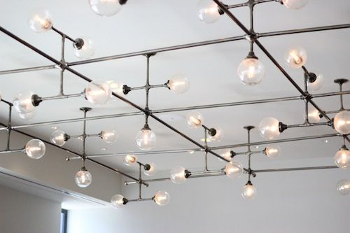 Industrial Design Ceiling Lights : Plumbers pipe track lighting steampunk and industrial