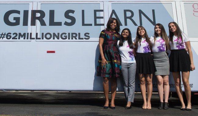 Michelle Obama appelle à passer à l'action pour l'éducation des filles