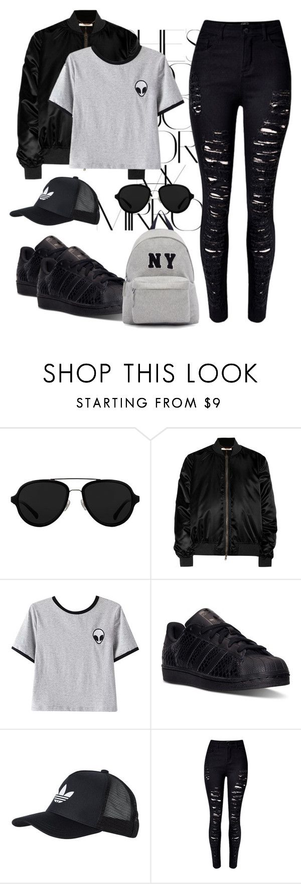 """Gangster Girl"" by lisa-boobear ❤ liked on Polyvore featuring Rika, 3.1 Phillip Lim, Givenchy, Chicnova Fashion, adidas, adidas Originals and Joshua's"