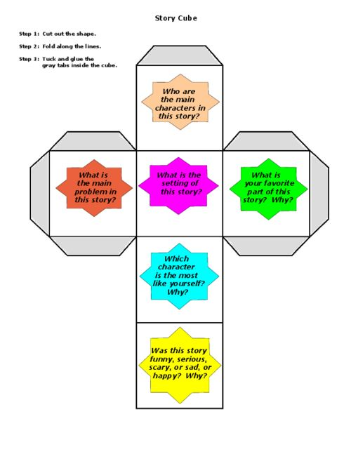 Printable Story Cube