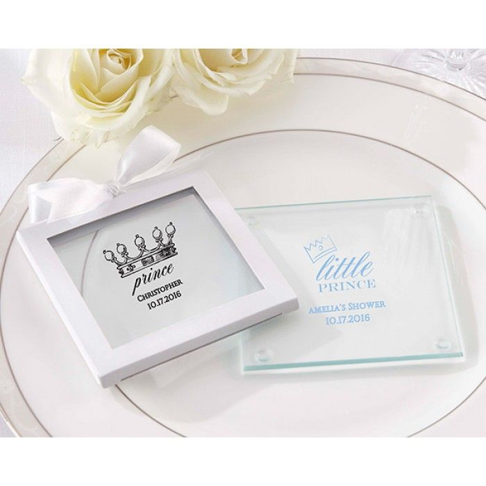 Little Prince Personalized Glass Coaster (Set of 12)