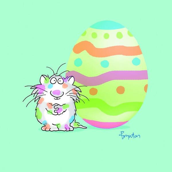 Sandra Boynton@SandyBoynton31 Mar   The painting of Easter Eggs calls for enthusiasm if not finesse. pic.twitter.com/zwP8Vdck1O