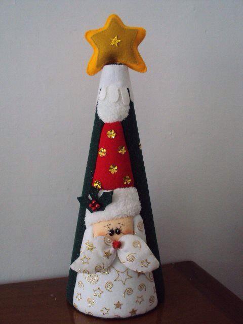 Cono navideño en patchwork