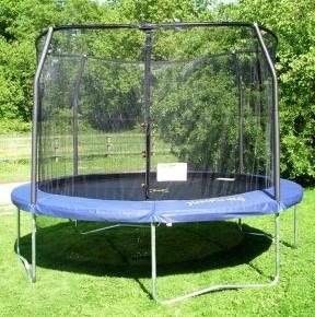 Trampoline nets are definitely a good idea.