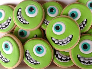 Monstros S/A - Wazowski, cookies, biscoitos decorados | by Cookie Design