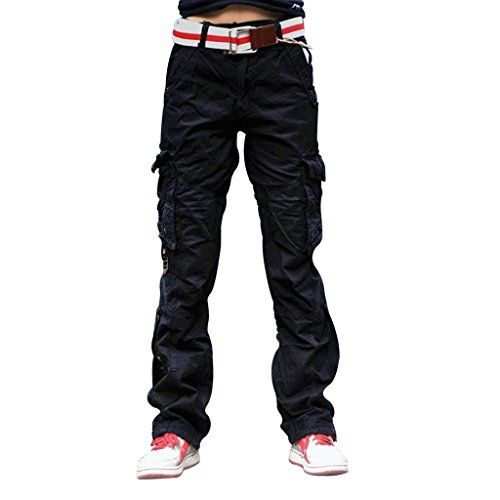 New Trending Pants: Womens Casual Cargo Pants Military Army Styles Cotton Trousers 2803 Black L. Women's Casual Cargo Pants Military Army Styles Cotton Trousers 2803 Black L   Special Offer: $29.99      199 Reviews Brand New Women's Fashionable, Stylish 100% Cotton Pants. These Pants Comfortably Sits at waist. Pants are available in Solid color, Military  Army...