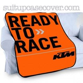 Motor KTM Ready To Race Photo Plush Fleece Throw Blanket D02 - SuitUpCaseCover