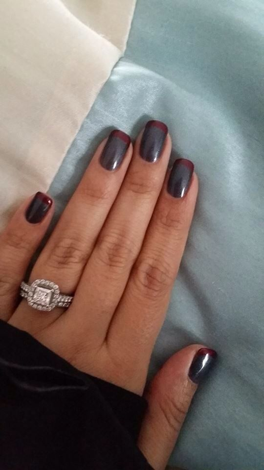 OPI's Signature Grey Mani, using Dark Side of the Moon and Romantically Involved for the tips.
