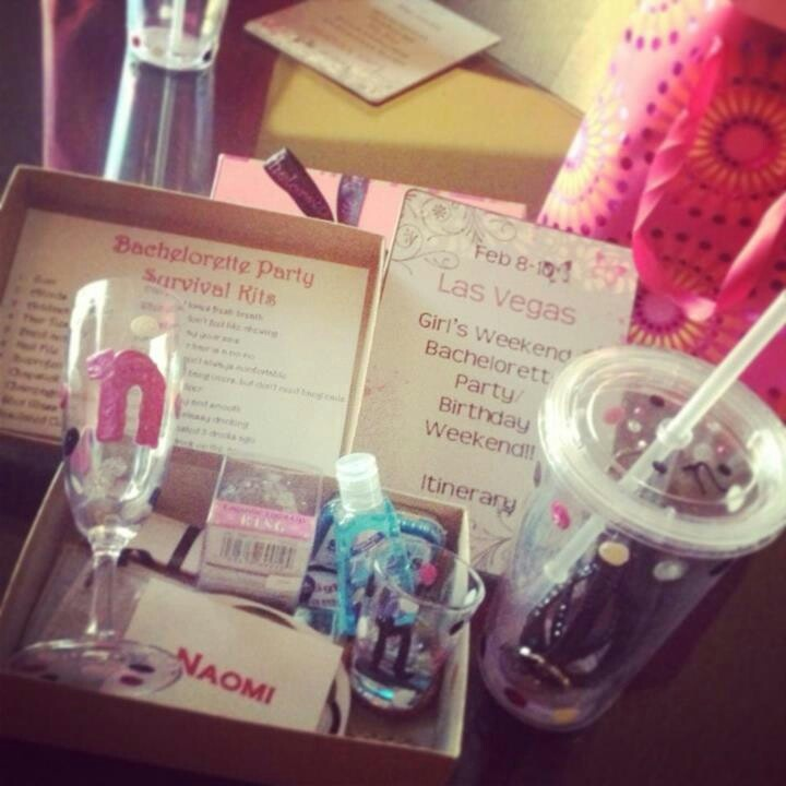 Wendys Bachelorette Party Survival Kit And Itinerary Gift BagsIdeas