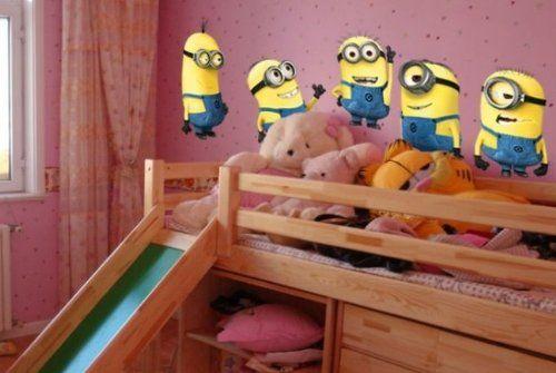 Despicable Me - Adorable sticker mural Moi Moche et Méchant 2 pièces enlevable pour chambres ou salles de jeu enfants 55cm x 55cm ZY1404 - A: Amazon.fr: Cuisine & Maison