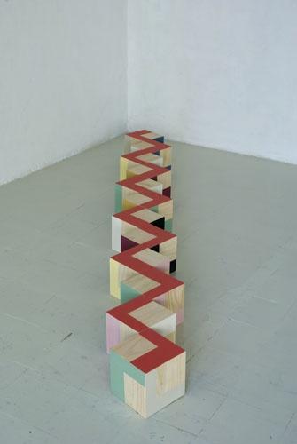 puzzle, 2008  painted wood  20 x 20 x 20 cm  each cube