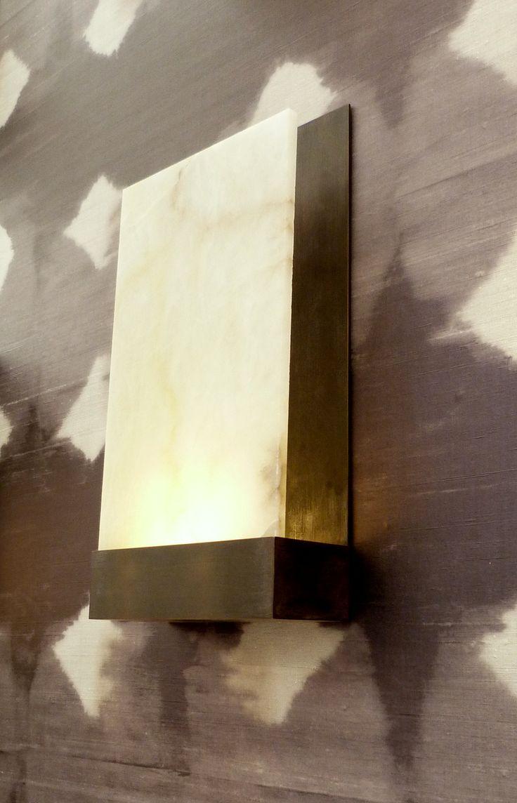 Barrington wall light with alabaster panel