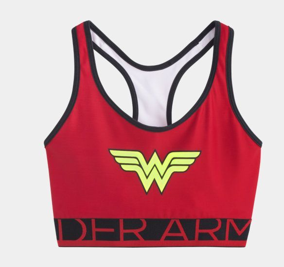 Women's Under Armour Wonder Woman Sports Bra - I really need this so I can keep my identity secret! Lol. #UnderArmour #sportsbra