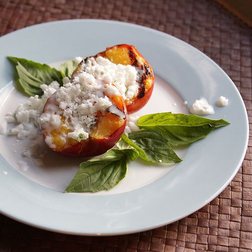 Grilled Stone Fruit with Coconut Snow | Recipe