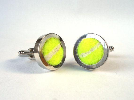 Real Sports Ball Cufflinks - Handmade from Real Tennis balls