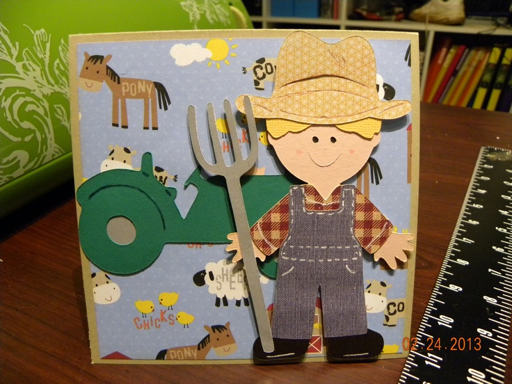 Cricut card using Everyday Paper Dolls