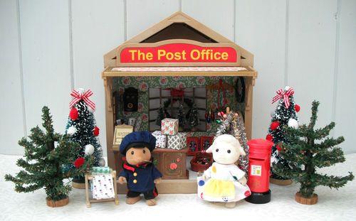 Sylvanian Families Post Office - Cath Kidston Decorated Christmas Tree Shop Lot | eBay
