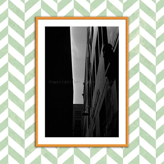 Large Wall Art Black & White Shadow Photo Urban by Lettherebelife