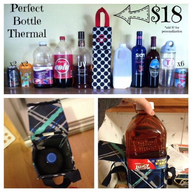 The Perfect Bottle Thermal: perfect for toting more than just wine. Who knew? www.mythirtyone.com/rachaelisrael