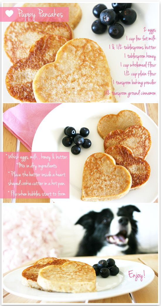 Valentines Day Puppy Pancakes from prettyfluffy.com #Valentines