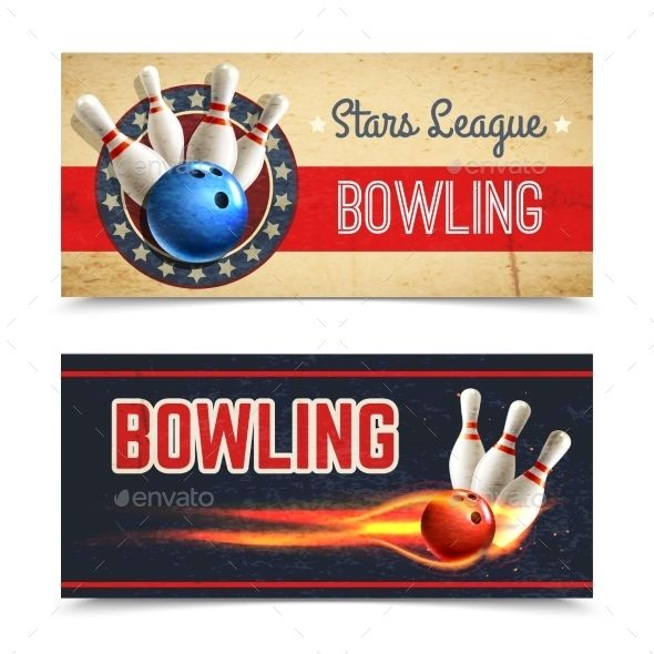 Bowling Banner Set Banners and Bowling - bowling flyer template