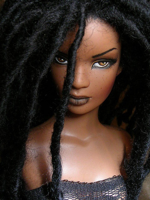 Dreadlock barbie... now this barbie could have gotten some playtime!