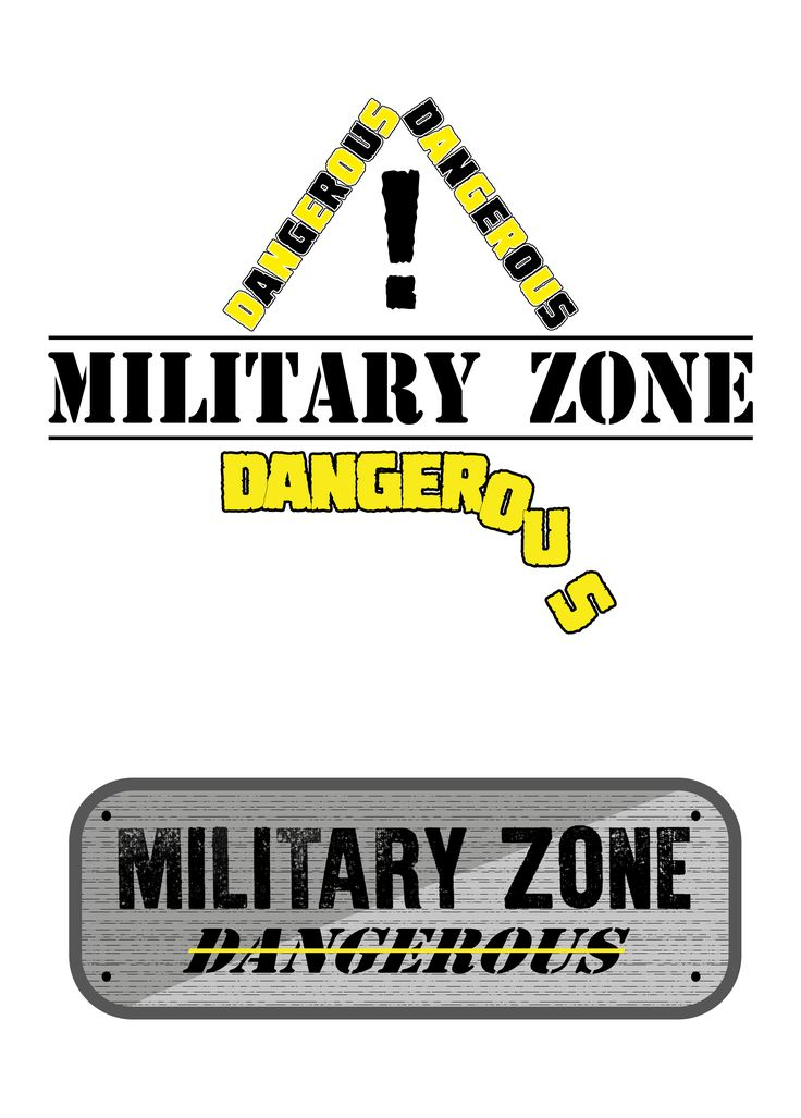 Military Zone Exercise with fonts